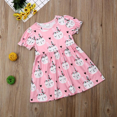 Brielle Pink Bunny Dress