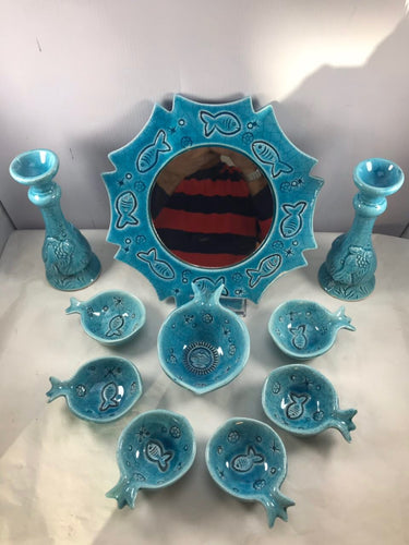 Persian HaftSeen - Very Beautiful Ceramic HaftSeen - Style#5 - gallery-eshgh