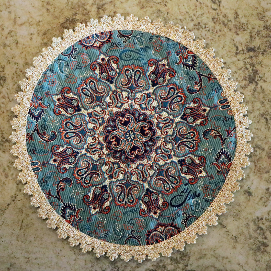Termeh - Luxurious circle shape Persian textile - Buy 6 for only $35! - Pattern 4 - gallery-eshgh