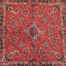 "Load image into Gallery viewer, Termeh - Luxurious square shape Persian textile 39""- Pattern 4 - gallery-eshgh"