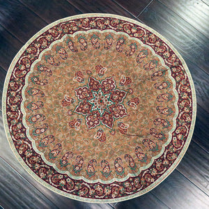 "Termeh - Luxurious circle shape Persian textile 38""diameter - Pattern 7 - gallery-eshgh"