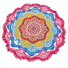 Load image into Gallery viewer, Lovely Round Mandala Meditation Towel