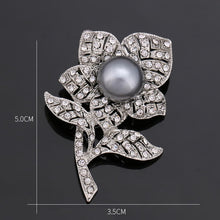 Load image into Gallery viewer, Vintage Faux Pearl and Rhinestone Brooches in Various Designs