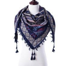 Load image into Gallery viewer, Multi-Color Scarf/Pashmina with Tassels- Multiple Colors Available