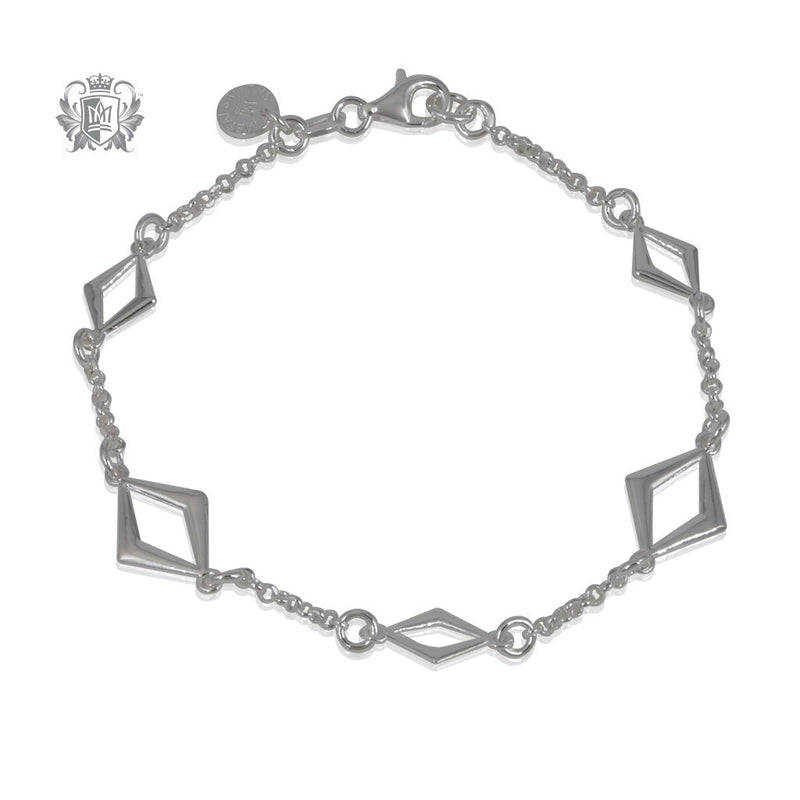 Metalsmiths Sterling Kite Link Bracelet