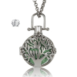 Metalsmiths Sterling Perfect Scent Celtic Aromatherapy Locket - Green Lava