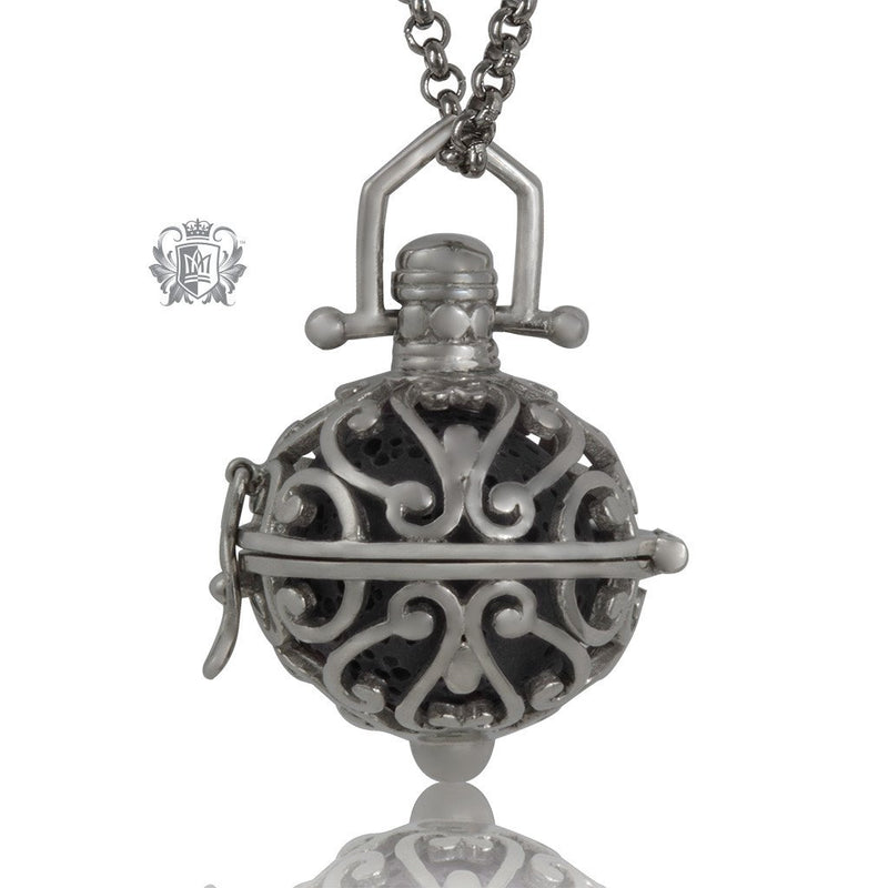 Perfect Scent Venetian Aromatherapy Locket Antique/Black