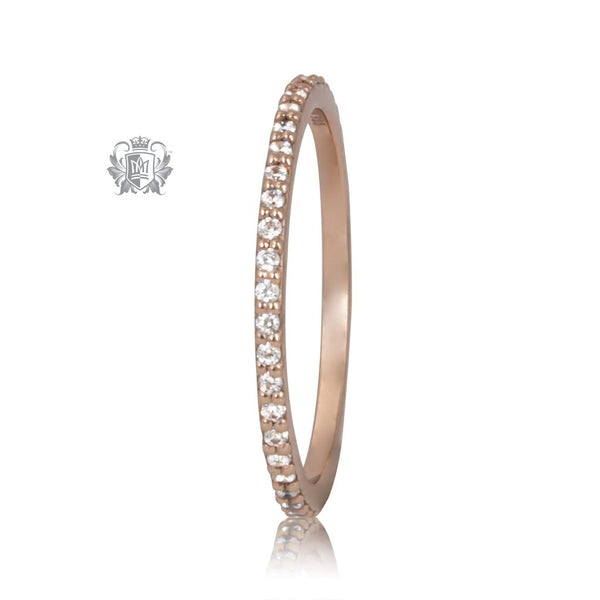 Rose Gold Eternal Stacking Cubic Ring Metalsmiths Sterling