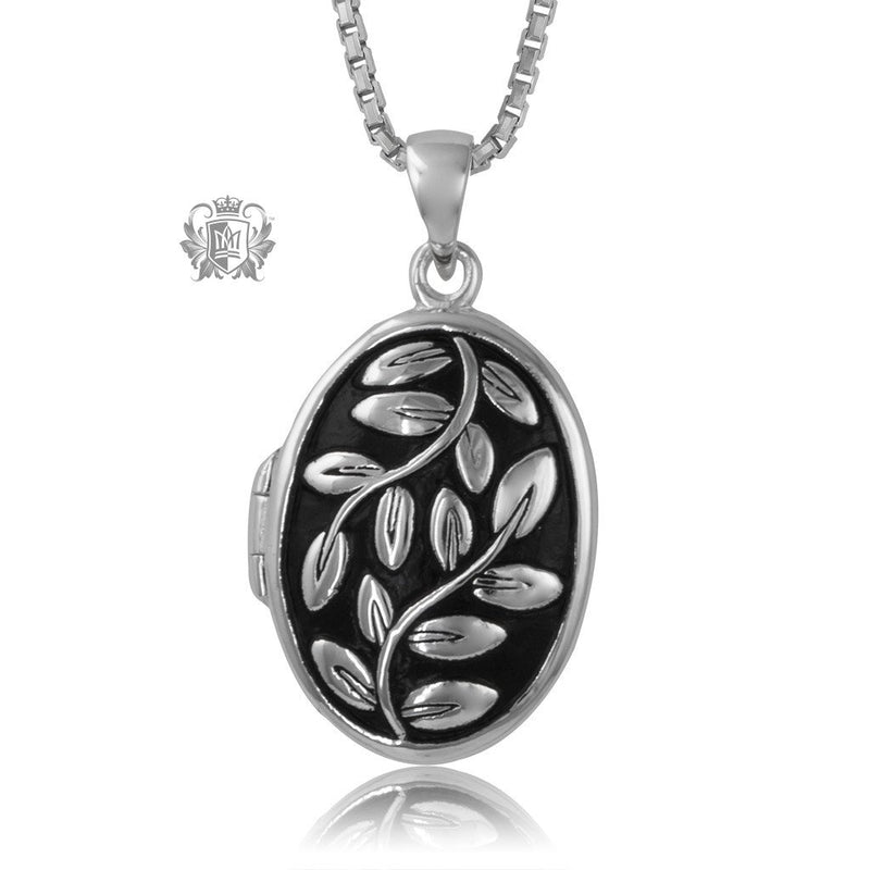 Metalsmiths Sterling Silver Leafy Locket