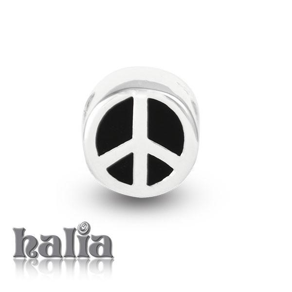 Peace Symbol -  Sterling Silver Bead