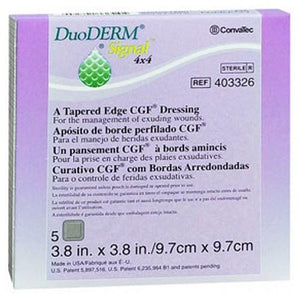 Convatec Duoderm Signal Tapered Edge Cgf Dressings 4 X 4 In 5 each By Convatec