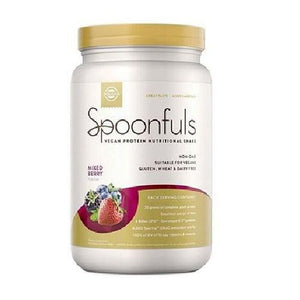 Spoonfuls Vegan Protein Nutritional Shake Mixed Berry 20.74 Oz By Solgar