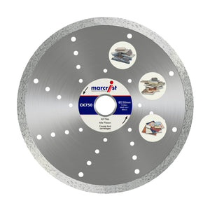 Marcrist CK750 85mm x 15 Fast Tile Diamond Blade - No Flange