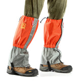 AoTu Outdoor Water-Resistant Warm Snow Shoes Cover Wrap Legging Gaiter - Grey + Orange (Pair)