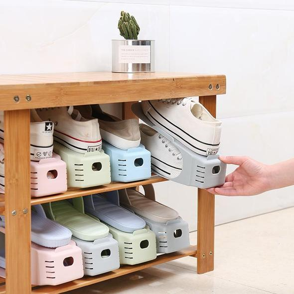(Double Deck Shoe Rack)A Space Saving Storage Solution!