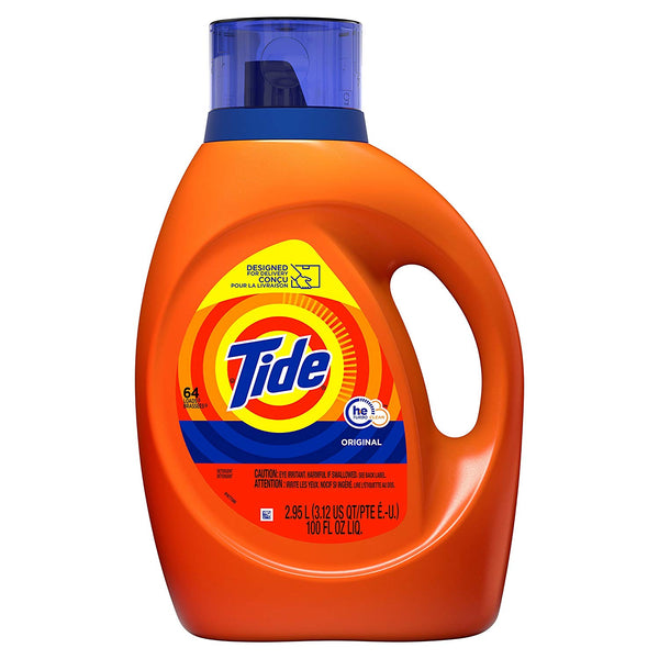100 Oz Tide HE Turbo Clean Liquid Laundry Detergent, Original Scent Via Amazon SALE $9.97 Shipped! (Reg $16.00)
