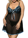 Women's Sexy Nighty V-Neck Strap Lace Chemise