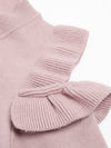 Elegant Cold Shoulder Knitted Long Sleeve Sweater - BelleChloe