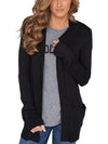 Solid Color Knitted Long Sleeves Pockets Cardigan-Cardigans-BelleChloe