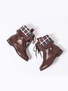 Fashionable Pu Leather Lace-Up Martin Boots - BelleChloe