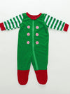 Christmas Striped Print Home Parent-Child Suit - BelleChloe