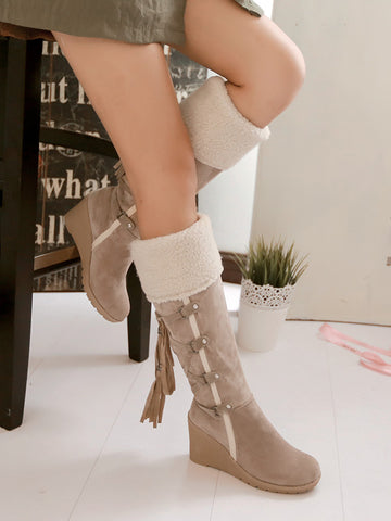 Fashionable Pu Leather Lace-Up Martin Boots