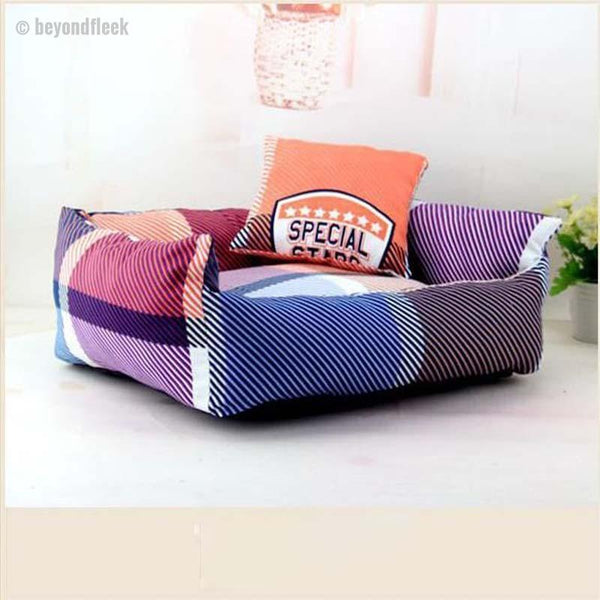 Cute Twill Sofa Bed with Cushion