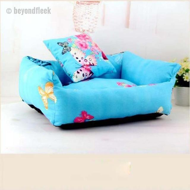 Cute Butterfly Print Sofa Bed with Cushion