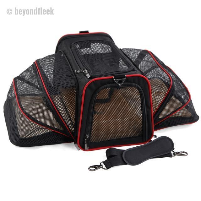 Luxurious Expandable Portable Pet Dog Car Travel Bag