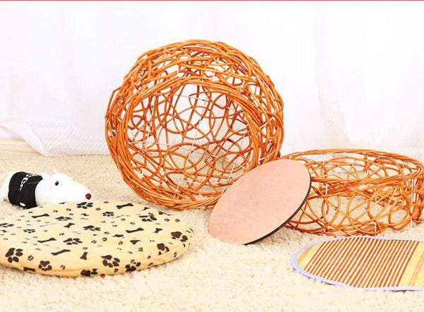 Wicker Weave Beautiful Kitten House