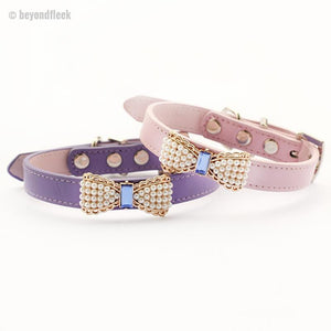 Pearl Bow Princess Puppy Collar