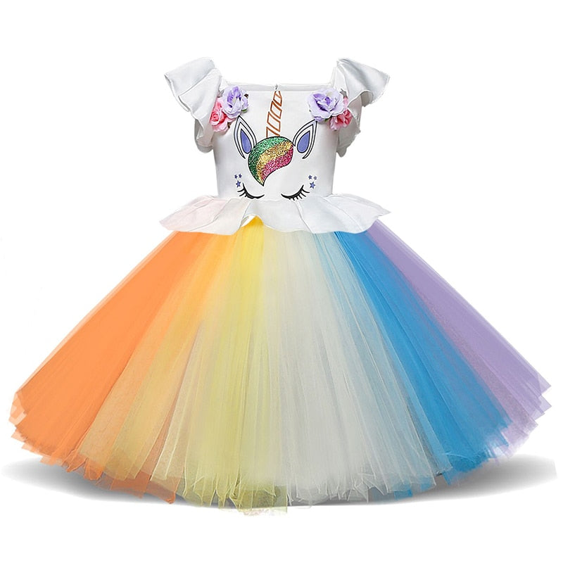 Unicorn Rainbow Tutu Dress