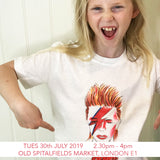 Design a David Bowie T-shirt - Children's Workshop - Old Spitalfields Market, London E1