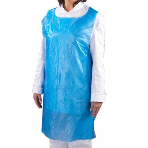 Disposable Blue or White Aprons on a roll
