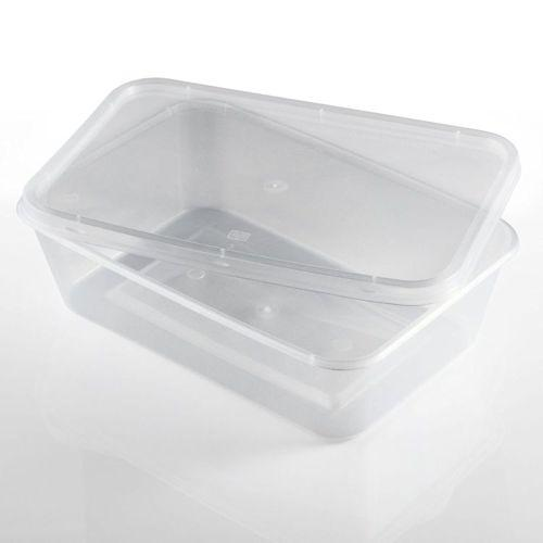 Clear Plastic Container and Lid - Microwave Safe