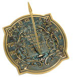 Solid Brass Happiness Sundial (#2303) - Garden Sundials
