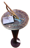 "Solid Brass Grow Old With Me Sundial 10"" Dia. (#2308) - Garden Sundials - 2"