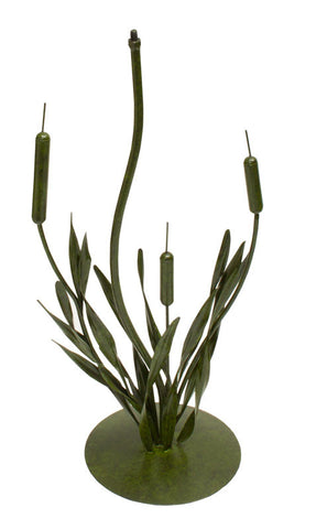 "Cattails Sundial Wrought Iron 28"" Pedestal Base (#B93) - Garden Sundials - 1"