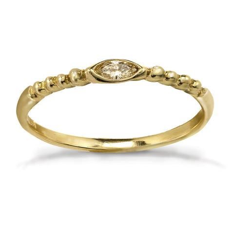 Gold Braided Marquise Ring 14kt and 18kt