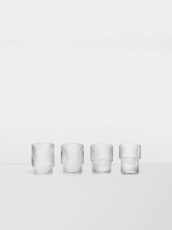 Ripple Glasses (set of 4) by fermLIVING