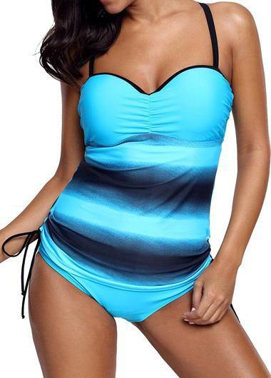 Push Up Vintage Striped Swimwear