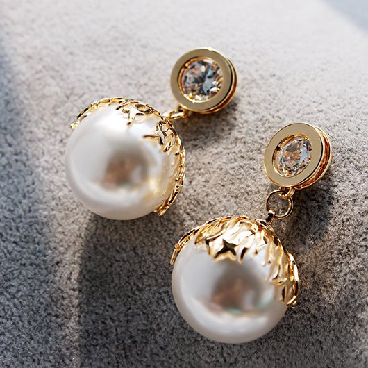 Diamond earrings exaggerated earrings - fashionyanclothes