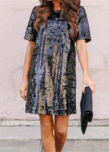 Fashion Sequined  Party Dresses - fashionyanclothes