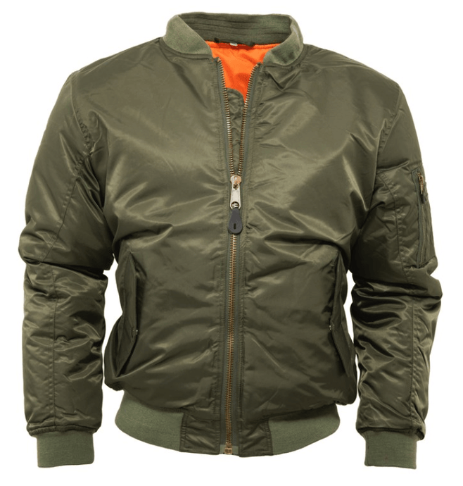 Olive MA1 Flight Bomber Jacket - GIAN LONDON