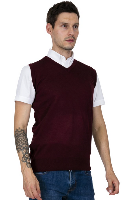 Burgundy Tank Top - GIAN LONDON