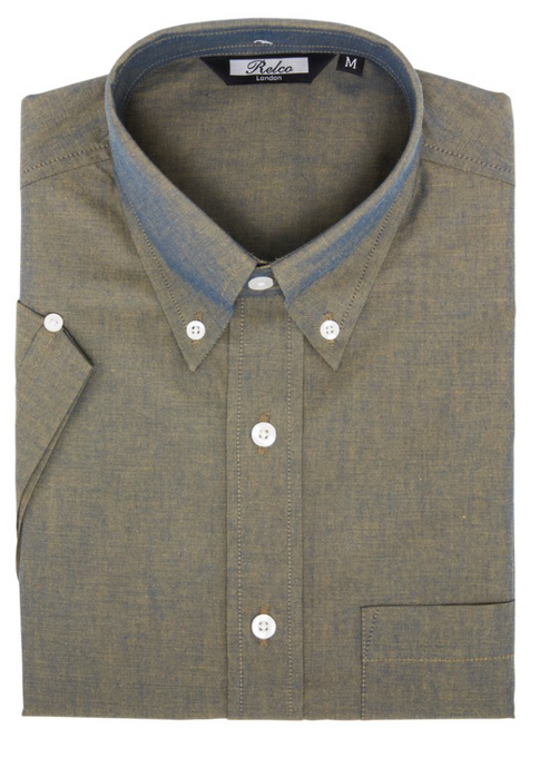 Gold Two Tone Tonic Short Sleeve Shirt - GIAN LONDON