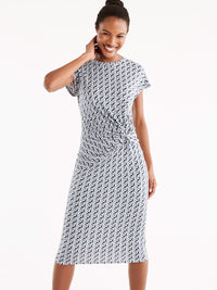Twist Knot Dress Color Blue Moonstone Combo
