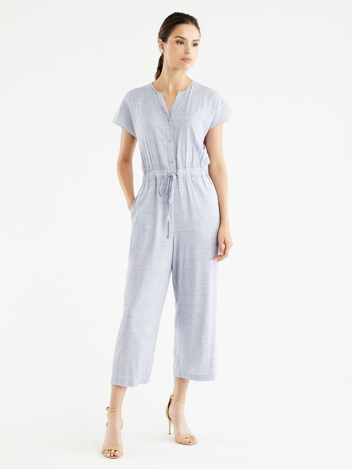 Roll Sleeve Jumpsuit