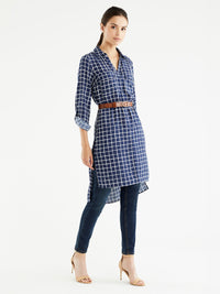 Roll Tab Shirtdress Color Pacific Ivory