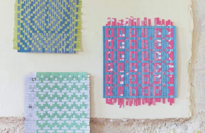 Make a paper weaving